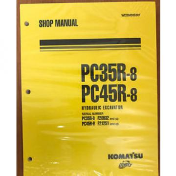 Komatsu Service PC35R-8, PC45R-8 Shop Manual NEW