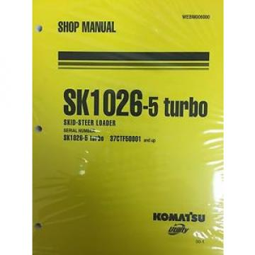 Komatsu Service SK1026-5 TURBO SHOP REPAIR Manual