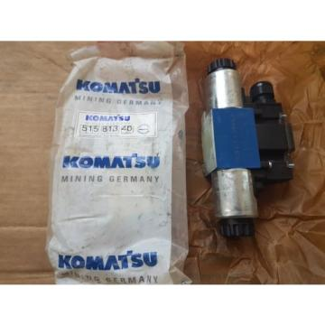 New Komatsu Germany Rexroth Hydraulic Valve 515 813 40 / 4WE6J6X/EG24DL/N18