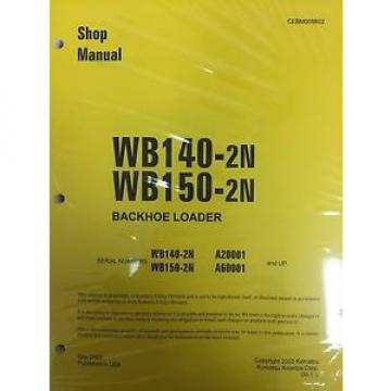 Komatsu WB140PS-2N, WB150PS-2N Backhoe Service Shop Manual