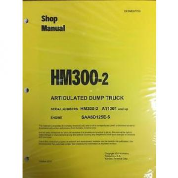 Komatsu HM300-2 Shop Service Manual Articulated Dump Truck