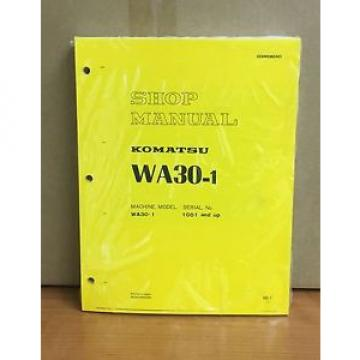 Komatsu WA30-1 Avance Wheel Loader Shop Service Repair Manual
