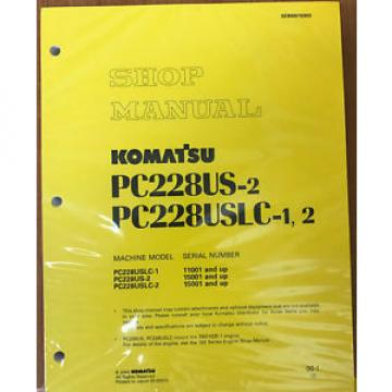 Komatsu PC228USLC-1/2, PC228US-2 Service Repair Printed Manual