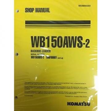 Komatsu Service WB150AWS-2 Backhoe Loader Shop Manual
