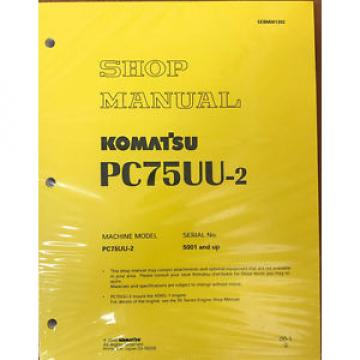 Komatsu Excavator Service PC75UU-2 Shop Repair Manual