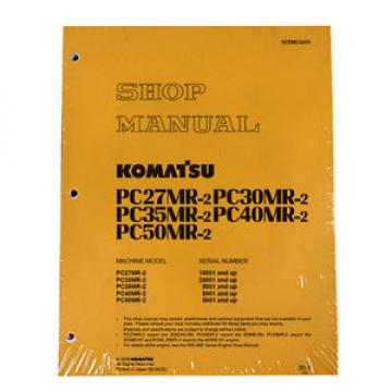 Komatsu Service PC40MR-2 & PC50MR-2 Shop Repair Manual