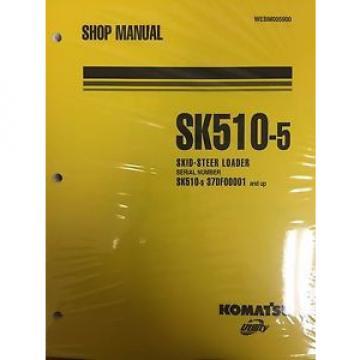Komatsu SK510-5 Crawler Skid-Steer Track Loader Shop Repair Service Manual