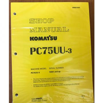 Komatsu Service PC75UU-3 Excavator Shop Repair Manual