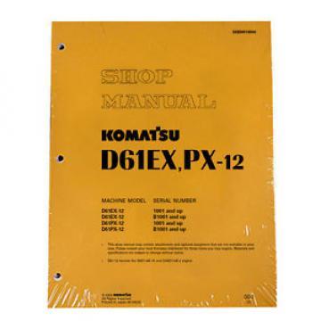 Komatsu Bulldozer D61EX-12, D1PX-12 Service Repair Printed Manual