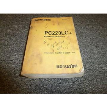 KOMATSU PC220LC-6 Hydraulic Excavator Original Parts Catalog Manual Guide Book