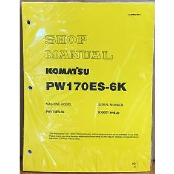 Komatsu Service PW170ES-6K Excavator Shop Manual NEW REPAIR
