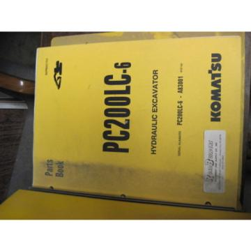 OEM KOMATSU PC200LC-6 Hydraulic Excavator PARTS Manual