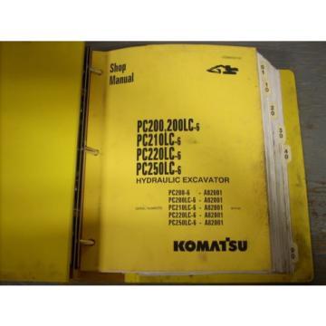 Komatsu Shop Manual PC200 PC200 PC210 PC220 PC250 Hydraulic Excavator