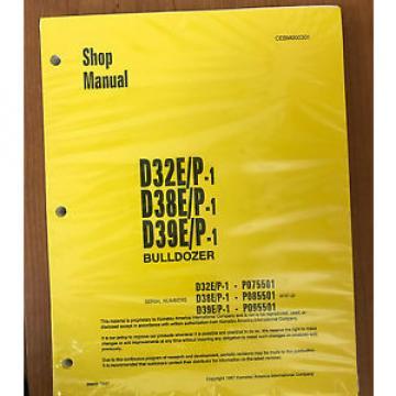 Komatsu D32E/P-1, D38E/P-1, D39E/P-1 Dozer Bulldozer Service Shop Repair Manual