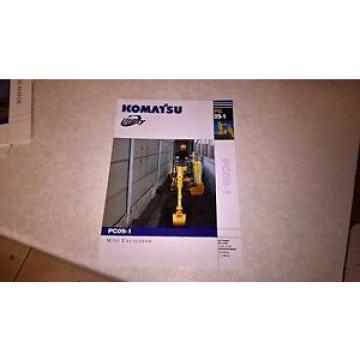komatsu pc09 - 1 excavator sale brochure