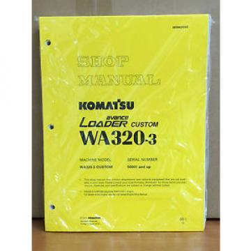 Komatsu WA320-3 Avance Custom Wheel Loader Shop Service Repair Manual