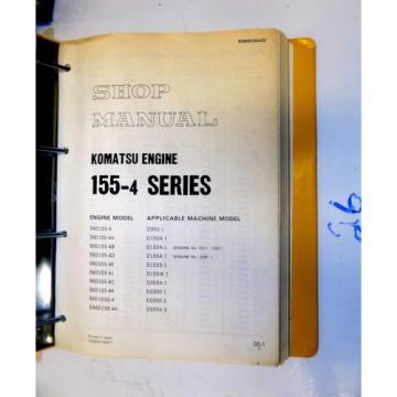KOMATSU 155-4 SERIES ENGINE SHOP MANUAL