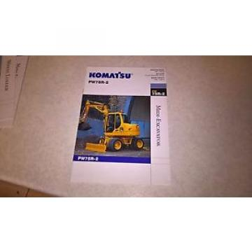 komatsu pw75r-2 excavator sale brochure