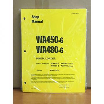 Komatsu WA450-6, WA480-6 Wheel Loader Shop Service Repair Manual