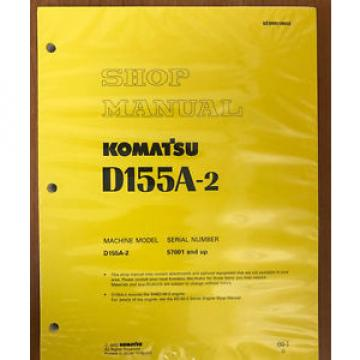 KOMATSU  D155A-2 SHOP MANUAL 50001-UP