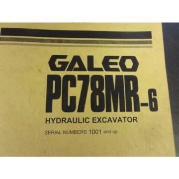 Komatsu PC78MR-6 Hydraulic Excavator Parts Book