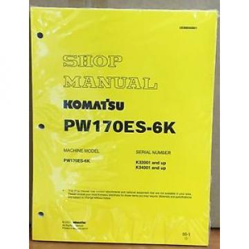 Komatsu Service PW170ES-6K HYDRAULIC Excavator Shop Manual NEW REPAIR