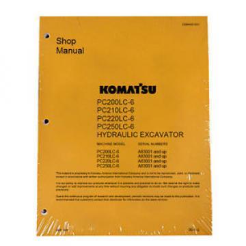 Komatsu Shop PC200-6, 200LC-6, PC210LC-6 Service Manual