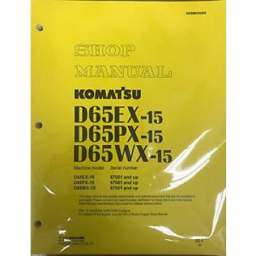 Komatsu D65EX-15, D65PX-15, D65WX-15 Service Repair Printed Manual