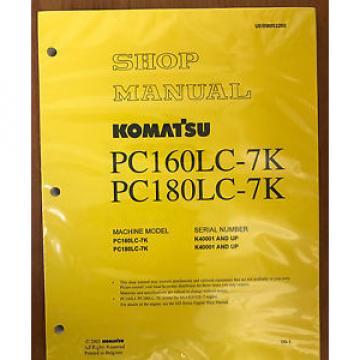 Komatsu Service PC160LC-7K, PC180LC-7K Shop Manual