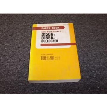 Komatsu D150A-1 D155A-1 Bulldozer Dozer Crawler Original Parts Catalog Manual