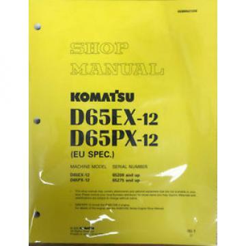 Komatsu D65EX-12, D65PX-12 Dozer Crawler Tractor Bulldozer Shop Service Manual