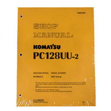 Komatsu Service PC128UU-2 Shop Manual Book NEW