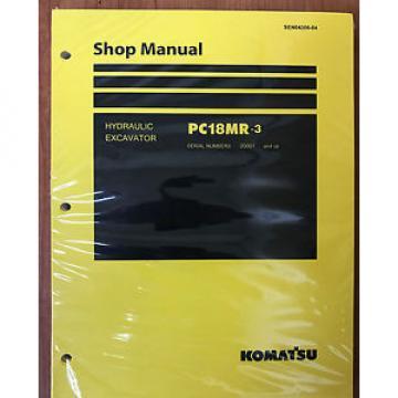 Komatsu Service PC18MR-3 HYDRAULIC Excavator Shop Manual NEW #1