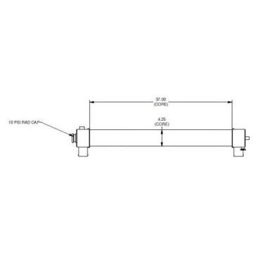 Radiator for Komatsu HM 300-2 Replaces P/N 56D-03-21211