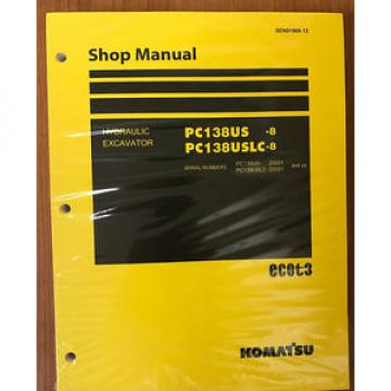 Komatsu PC138USLC-8 PC138US-8 Service Repair Printed Manual