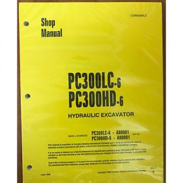 Komatsu PC300HD-6, PC300LC-6 Service Repair Printed Manual