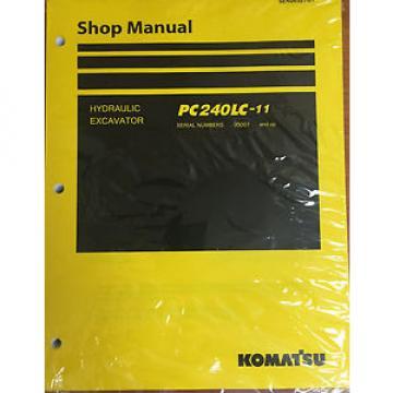 Komatsu PC240LC-11 Hydraulic Excavator Shop Loader Workshop Repair