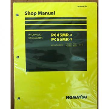 Komatsu Service PC45MR-3, PC55MR-3 Excavator Shop Manual NEW #1