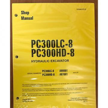 Komatsu PC300HD-8 PC300LC-8 Service Repair Printed Manual