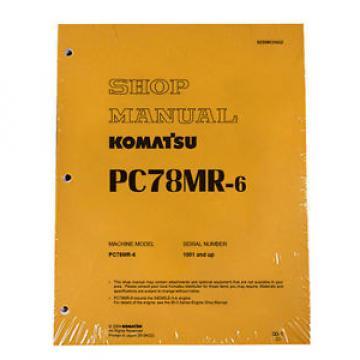 Komatsu Service PC78MR-6 Excavator Shop Repair Manual