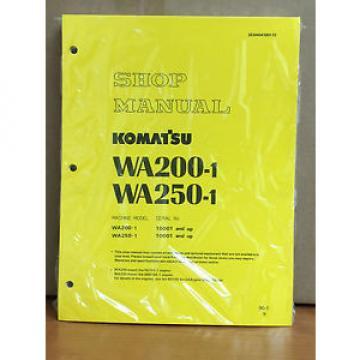Komatsu WA200-1, WA250-1 Wheel Loader Shop Service Repair Manual
