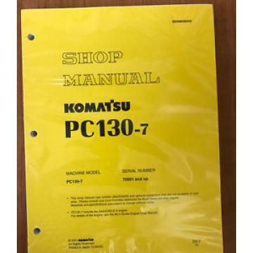 Komatsu  PC130-7 Excavator Service Shop Repair Manual 70001 and up