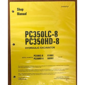 Komatsu PC350HD-8 PC350LC-8 Service Repair Printed Manual