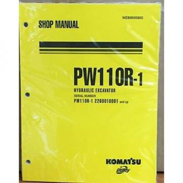 Komatsu Service PW110R-1 Excavator Shop Manual NEW REPAIR