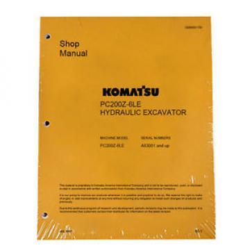 Komatsu Service PC200Z-6LE Shop Manual Book NEW
