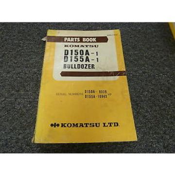 Komatsu D150A-1 D155A-1 Bulldozer Dozer Part Catalog Manual Manual
