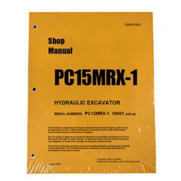 Komatsu Service PC15MRX-1 Shop Manual Book NEW
