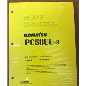 Komatsu Service PC58UU-3 Excavator Shop Repair Manual