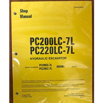 Komatsu PC200LC-7L, PC220LC-7L Hydraulic Excavator Shop Repair Service Manual
