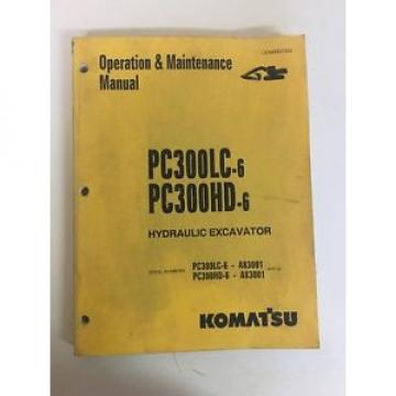 Komatsu Hydraulic Excavator Operation/Maintenance Manual - PC300LC-6 & HD-6